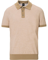 BOSS Oberti Knitted Polo Beige