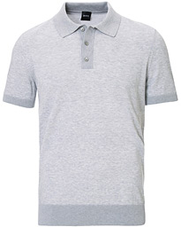 BOSS Oberti Knitted Polo Grey
