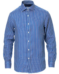 Ralph Lauren Purple Label Bengal Stripe Linen Shirt Blue/White