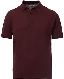 John Smedley Adrian Slim Fit Sea Island Polo Deep Fig