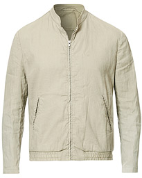 Filippa K Kiruna Unlined Garment Dyed Linen Jacket Grey Beige
