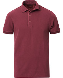 Gran Sasso Washed Polo Burgundy