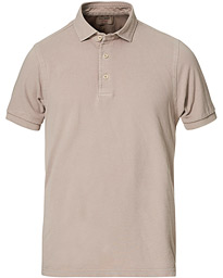Gran Sasso Washed Polo Mud Brown