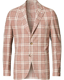 L.B.M. 1911 Jack Regular Fit Double Check Cotton Blazer Dusty Pink