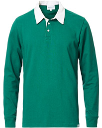 Norse Projects Ruben Long Sleeve Rugby Polo Sporting Green