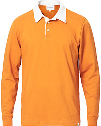 Norse Projects Ruben Long Sleeve Rugby Polo Cadmium Orange