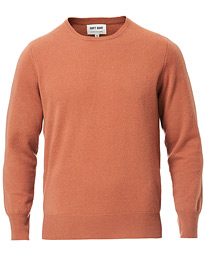 Soft Goat Cashmere O-neck Moroccan Spice