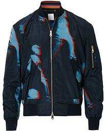 Paul Smith Heating Map Poly/Silk Bomber Jacket Print