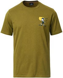PS Paul Smith Regular Fit Gone Fishing Tee Green