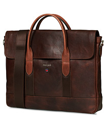 Morris Thomas Leather Briefcase Chestnut Brown