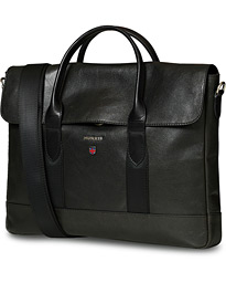 Morris Thomas Leather Briefcase Black