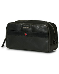 Morris Coleman Leather Washbag Black