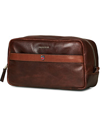 Morris Coleman Leather Washbag Chestnut Brown