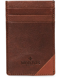 Morris Vinnie Leather Card Wallet Chestnut Brown