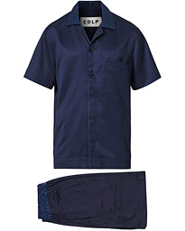 Home Suit Short Sleeve Navy Blue