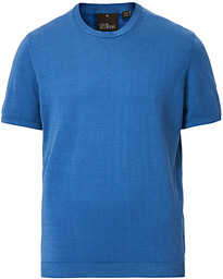 Oscar Jacobson Barth Knitted Cotton Tee Light Blue
