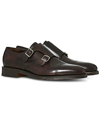 John Lobb William Double Monkstrap Dark Brown Calf