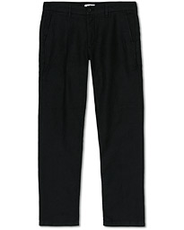 NN07 Karl Linen Trousers Black