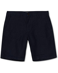 NN07 Crown Linen Shorts Navy