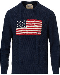 Polo Ralph Lauren Knitted Fisherman Flag Sweater Navy