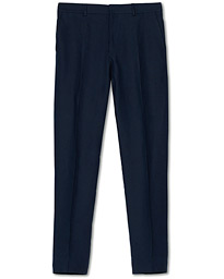 Polo Ralph Lauren Linen Turn Up Trousers Navy