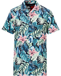 Hawaiian Printed Short Sleeve Shirt Green Bay