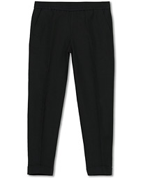 Filippa K Terry Cropt Turn Up Linen Trousers Black