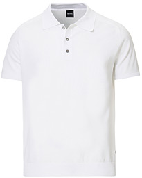 BOSS Ipalo Knitted Polo White