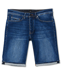 BOSS Casual Taber Stretch Denim Shorts Navy