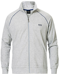 BOSS Loungewear Full-Zip Sweater Light Grey
