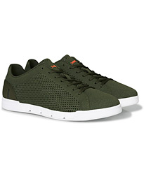 Swims Breeze Tennis Knit Sneaker Olive/White