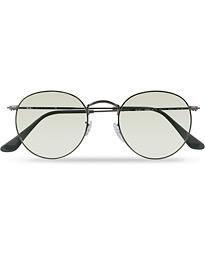 0RB3447 Round Metal Sunglasses Gunmetal/Light Green