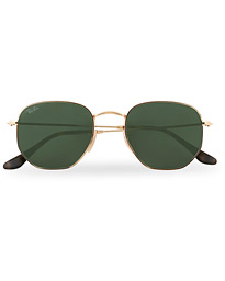 0RB3548N Hexagonal Sunglasses Gold/Green