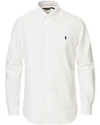 Custom Fit Garment Dyed Oxford Shirt White