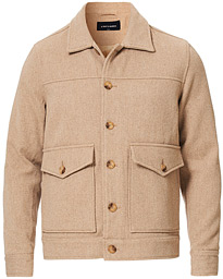 A Day's March Wool Twill Shoulder Patch Jacket Sand