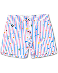 NIKBEN Azur Printed Swim Shorts Striped