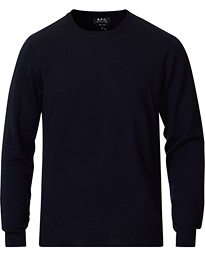 A.P.C. King Crew Neck Pullover Navy