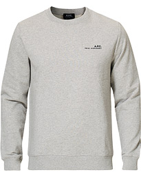 A.P.C. Item Crew Neck Sweatshirt Heather Grey