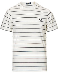 Fred Perry Fine Stripe T-Shirt Snow White