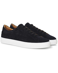 A Day's March Marching Sneaker Dark Navy Suede