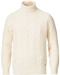 Armor-lux Soft Cable Turtleneck Sweater Nature