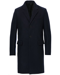 Filippa K Rhine Recycled Melton Wool Coat Navy