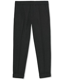 Filippa K Terry Flannel Cropped Turn Up Trousers Dark Grey Mel