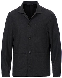 Filippa K Louis Flannel Jacket Dark Grey Melange