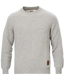 Bally Cashmere Crew Neck Sweater Light Grey