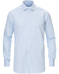Culto Slim Fit Washed Striped Shirt White/Blue