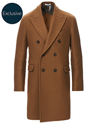 Double Breasted Wool Coat Brown