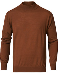 Mock Neck Pullover Rust Brown