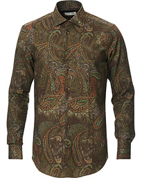 Etro Mercurio Paisley Shirt Dark Green