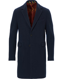 Etro Cashmere Blend Wool Coat Navy